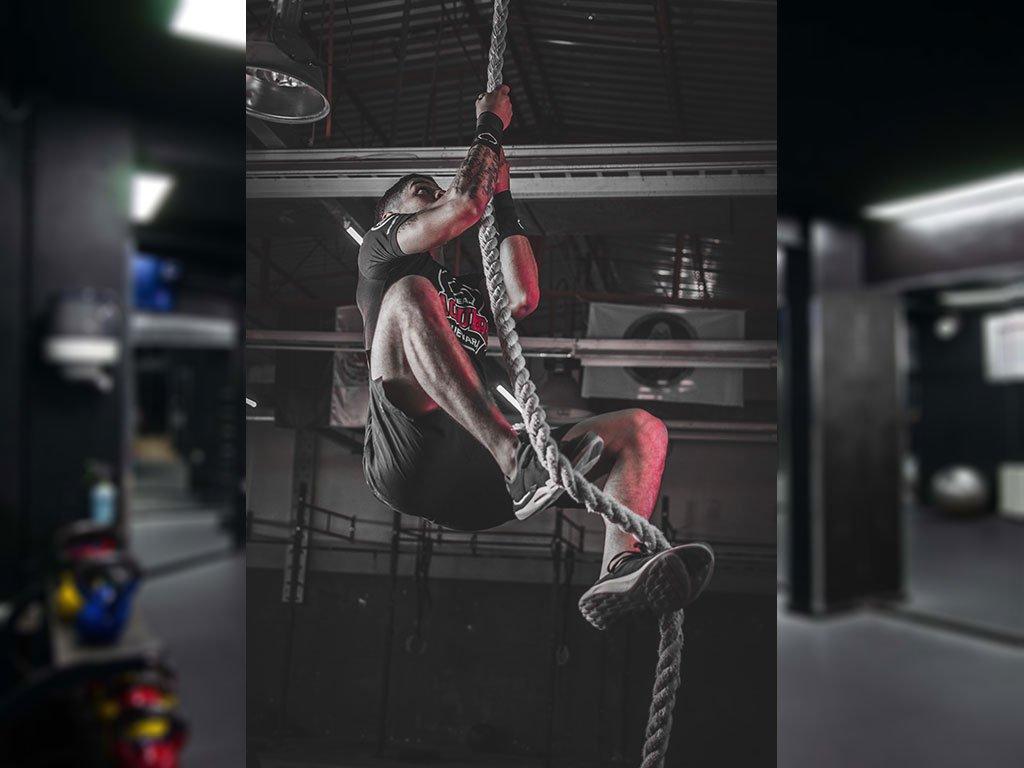 arrampicata con corda top rope funzionale